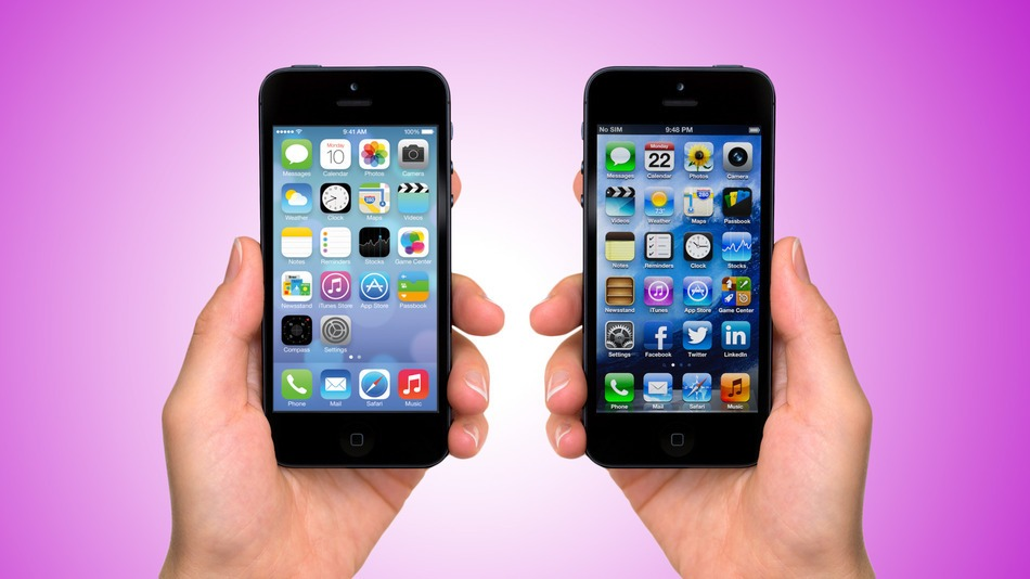 iOS 7 Vs. iOS 6: Comparing The Home Screen & Stock App Icons