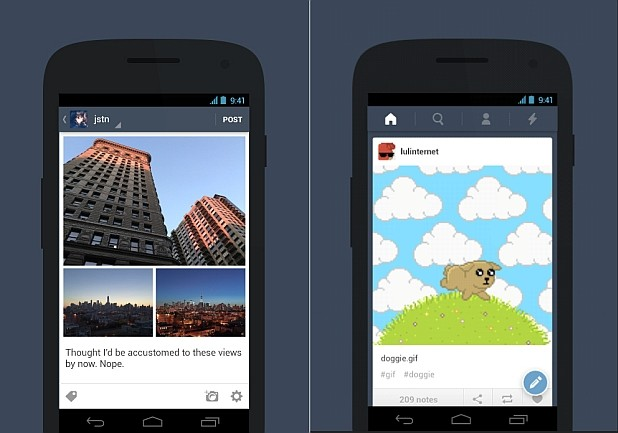 Tumblr Android app adds auto-playing GIFs, photosets and landscape viewing