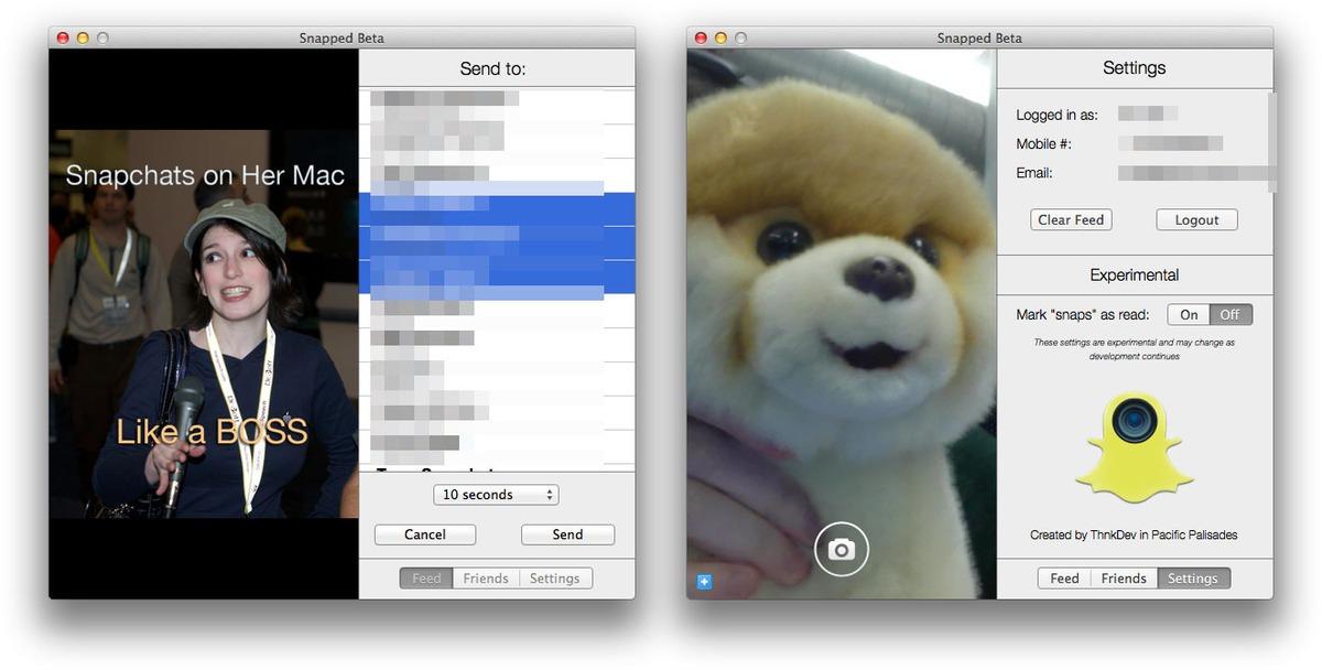 snapped-send-settings