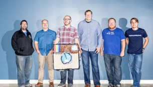 From left to right, Instagram and Facebook engineers Pedro Canahuati, Patrick Bozeman, Rick Branson, Nick Shortway, Chris Bray, and Michael Gorven–part of the team that moved Instagram. And then moved it again.  Ariel Zambelich/WIRED